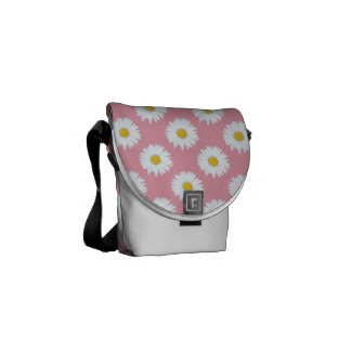 Daisies on Pink Courier Bag