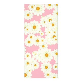 Daisies on pink rack card template