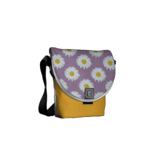 Daisies on Purple Courier Bag