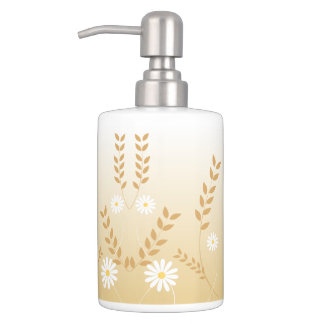 Daisies Toothbrush Holder and Soap Dispenser Set