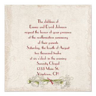 Daisy and Pearl Vow Renewal Invitation
