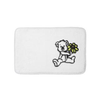 Daisy Bear Design Bath Mat