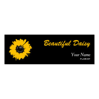 daisy black and orange business card template