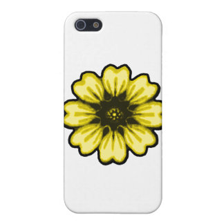 Daisy Black Yellow transp The MUSEUM Zazzle Gifts Cases For iPhone 5