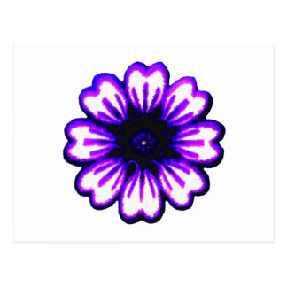 Daisy Blue Purple transp The MUSEUM Zazzle Gifts Post Cards