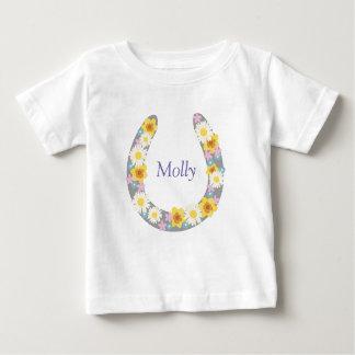 Daisy Floral Horse Shoe Garment Baby T-Shirt