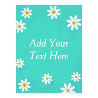 Daisy Flower Standard white envelopes 17 Cm X 22 Cm Invitation Card