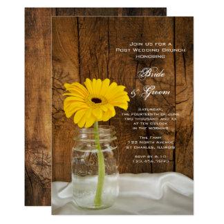 Daisy in Mason Jar Country Post Wedding Brunch 13 Cm X 18 Cm Invitation Card
