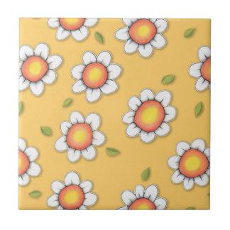 Daisy Joy yellow Daisies Tile