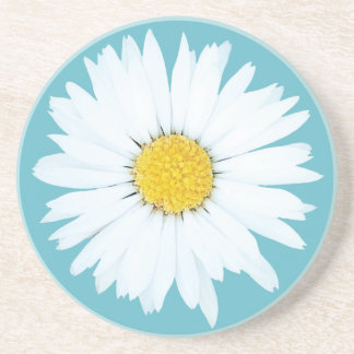Daisy on Blue | Floral Sandstone Coaster