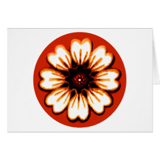 Daisy Orange The MUSEUM Zazzle Gifts Greeting Card