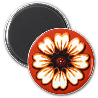 Daisy Orange The MUSEUM Zazzle Gifts Refrigerator Magnets
