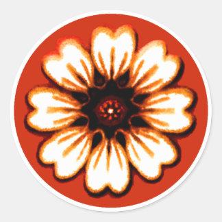 Daisy Orange The MUSEUM Zazzle Gifts Round Sticker