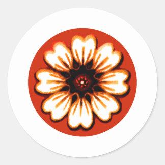 Daisy Orange The MUSEUM Zazzle Gifts Sticker