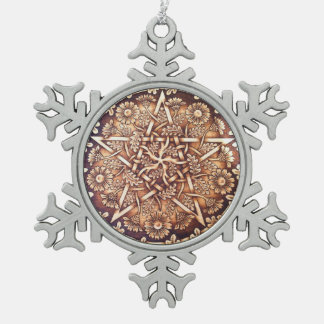 Daisy Pentacle Snowflake Ornament