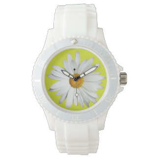 Daisy with lime-green background watch
