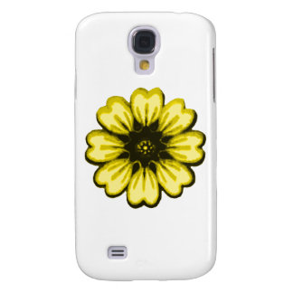 Daisy Yellow Black transp The MUSEUM Zazzle Gifts Galaxy S4 Case