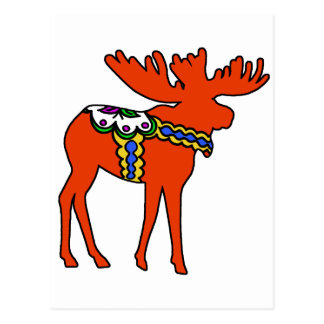 Dala Moose Postcard