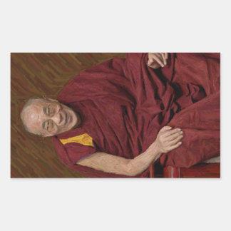 Dalai Lama Buddha Buddhist Buddhism Meditation Yog Rectangular Sticker