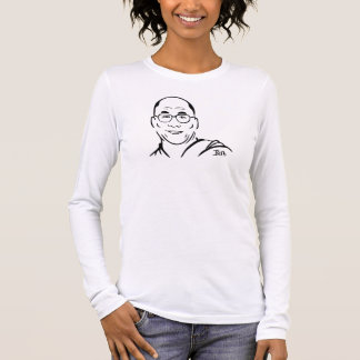 Dalai Lama Long Sleeve Shirt -- Pink - Fine Jersey