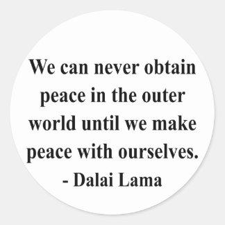 dalai lama quote 10a classic round sticker