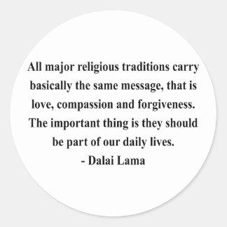 dalai lama quote 12a classic round sticker