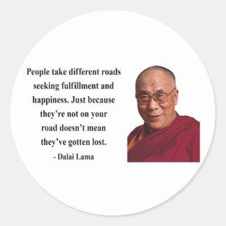 dalai lama quote 1b classic round sticker