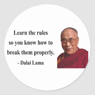 dalai lama quote 2b classic round sticker