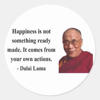 dalai lama quote 9b classic round sticker