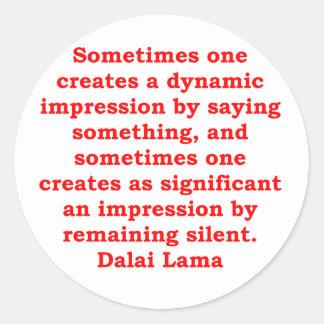 dalai lama quotes classic round sticker