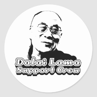 Dalai Lama Support Crew Classic Round Sticker