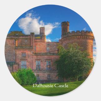 Dalhousie Castle, Midlothian, Scotland Classic Round Sticker