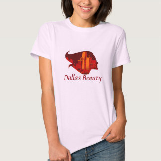 Dallas Beauty in Red and Orange T-shirts