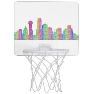 Dallas city skyline mini basketball hoop