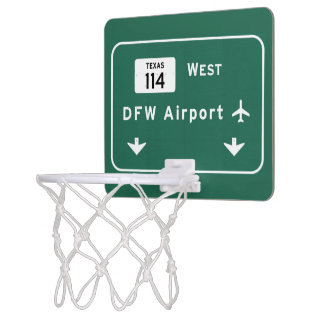 Dallas Ft Worth DFW Airport 114 Interstate Texas - Mini Basketball Hoop