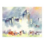 """""""Dallas Skyline"""" Dramatic Cityscape By Scot Howden Postcard"""