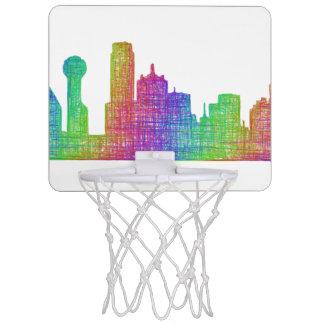 Dallas skyline mini basketball hoop