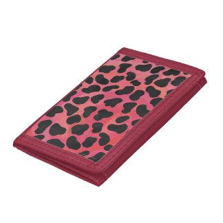 Dalmatian Black and Red Print Tri-fold Wallet