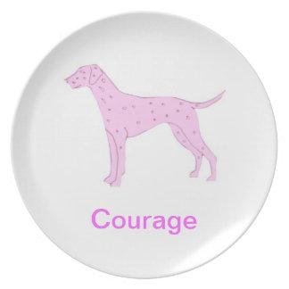 Dalmatian Courage Cancer Awareness Plate