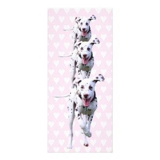 Dalmatian puppy dog bookmark, gift idea customized rack card
