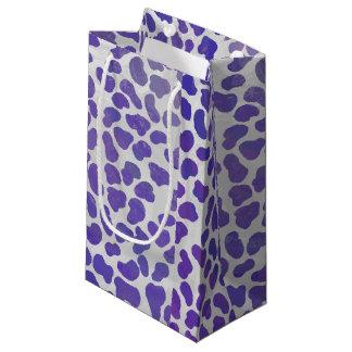 Dalmatian Purple and White Print Small Gift Bag