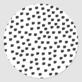 Dalmatian Spots Round Sticker
