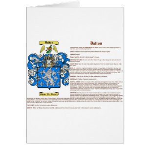 Dalton Family Coat Of Arms Gifts on Zazzle NZ