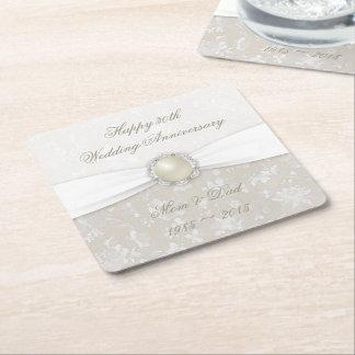Damask 30th Wedding Anniversary Coaster