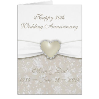 30th Wedding Anniversary Gifts For Parents Nz : Anniversary Cards & Invitations Zazzle.co.nz
