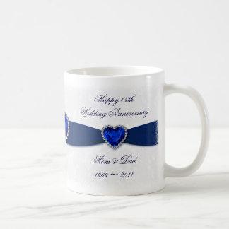 Damask 45th Wedding Anniversary Mug