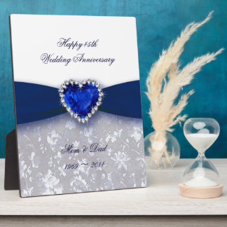 Damask 45th Wedding Anniversary Plaque