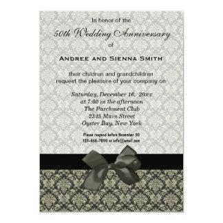 Damask 50th Wedding Anniversary 13 Cm X 18 Cm Invitation Card
