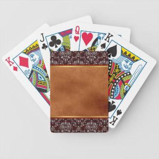 Damask and Grunge Playing Cards