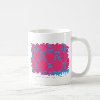 Damask Aqua-Magenta 3 Coffee Mug